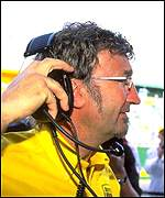 [ image: Eddie Jordan gave Hill his final Grand Prix drive]
