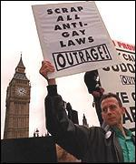 [ image: Campaigner Peter Tatchell: Outing is about hypocrisy]