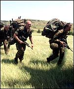 [ image: Paras were among the first K-For troops into Kosovo]