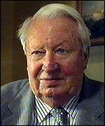 [ image: Sir Edward Heath: No comment on the current opposition leader]