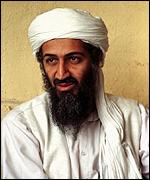 [ image: Osama Bin Laden: denies involvement with bombings]