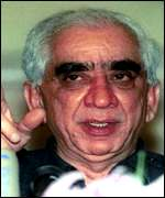 [ image: Jaswant Singh: Playing down threat of war]