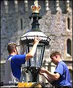 [ image: Many preparations have been taking place in and around Windsor Castle]