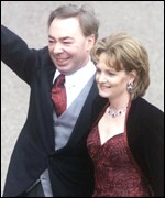 One of several famous guests - Lord Lloyd Webber