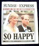 [ image: So happy declares the Sunday Express]