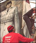 [ image: Many Indonesians hold President Sukarno in high esteem]