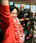 [ image: Megawati's party has been holding discussions about coalition-building]