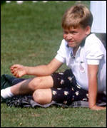 [ image: William, seen here in 1991, has grown up in the public eye]