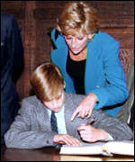 [ image: The prince on his first day at Eton in 1995]