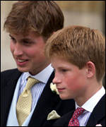 [ image: William was last seen in public at Edward and Sophie's wedding]