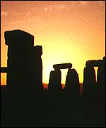 [ image: Stonehenge is a focal point for people celebrating the summer solstice]