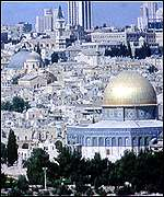 [ image: Jerusalem's old city contains holy sites for Muslims, Christians and Jews]