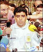 [ image: Dejected: Maradona was fed drugs]