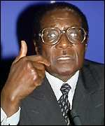[ image: Robert Mugabe: Loyal ally of the Congo government]