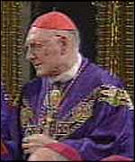[ image: The Pope's representative, Cardinal Edward Cassidy, led the Mass]