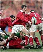 [ image: Rob Howley is Wales inspiration at scrum-half]