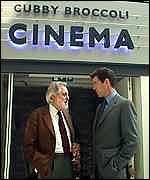 [ image: Bond meets Lord Puttnam (left), one of the driving forces behind the museum]