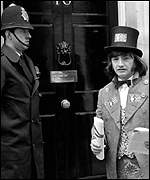 [ image: Brush with power: Outside Downing Street in 1974]