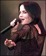 [ image: Andrea Corr: The Glastonbury crowd were not impressed]