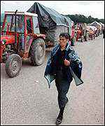 [ image: Serbs fleeing from Kosovo have added to the strains]