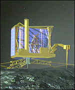 [ image: The lander will probe and analyse the comet's interior]