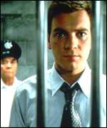 [ image: Leeson portrayed behind bars in the film Rogue Trader]