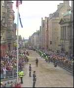 Royal Mile crowd