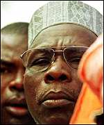 [ image: President Obasanjo: Taking the potential threat seriously]