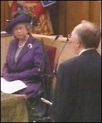 The Queen and Donald Dewar