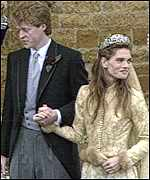 Earl Spencer and bride