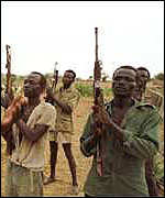 [ image: SPLA rebels are distrustful of the government]