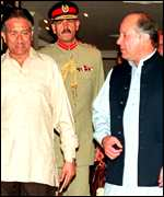 [ image: Sharif: asserted his control over the military]