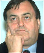 [ image: John Prescott: Old Labour minister in a New Labour Cabinet]
