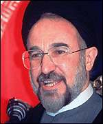 [ image: President Khatami has come down on the side of the students]