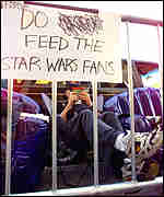 [ image: Hungry for more: Star Wars fans queue for The Phantom Menace]