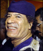 [ image: Colonel Gaddafi at his first OAU for 22 years]