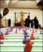 [ image: Stretching the point: Seven-metre table soccer]