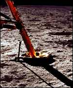 Apollo 11 touches down on the Moon