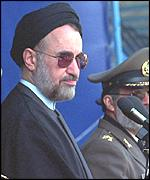 [ image: Protests could destabilise President Khatami's reforms]