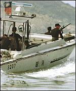 [ image: The Taiwanese navy has stepped up its patrols]