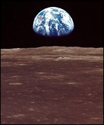 Earth seen from Moon, Nasa