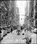Ticker tape parade in New York