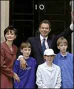 [ image: The Blairs said that all children of public figures had a right to complete their schooling in privacy]