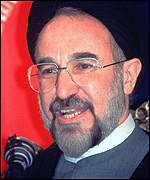 [ image: President Khatami: At loggerheads with Islamic hardliners over reforms]