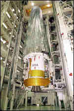 [ image: Chandra prepared for launch]