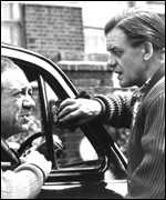 [ image: Bill Owen with Sid James in the 1963 BBC TV drama Taxi]