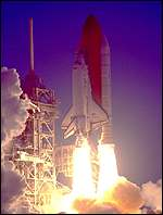 [ image: Tuesday's launch will be in darkness, as in May 1999]