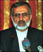[ image: Iran's foreign minister Kamal Kharrazi has seen a lot of Turkey's charge d'affaires recently]