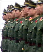 [ image: Strict organisation: PLA is divided into seven regions]
