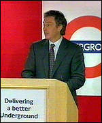 [ image: Tony Blair says a mediocre Tube service is not good enough]